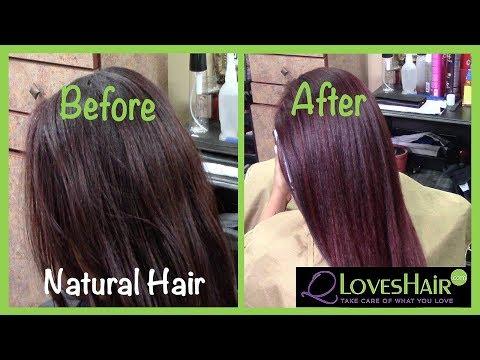 Red Velvet Hair Color on Natural Hair!