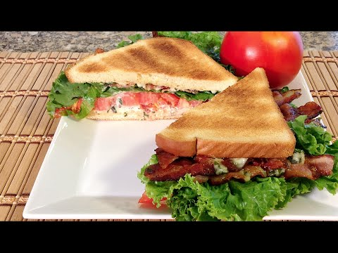 How To Make BLT-Bacon Lettuce Tomato Sandwich-Food Recipes