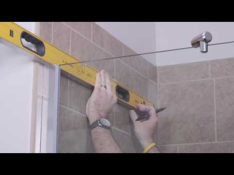 DIY Shower Door Installation How To - Cantour Series by Basco Frameless Shower Enclosure