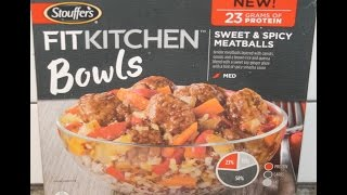 Stouffer's Fit Kitchen Bowls: Sweet & Spicy Meatballs Review
