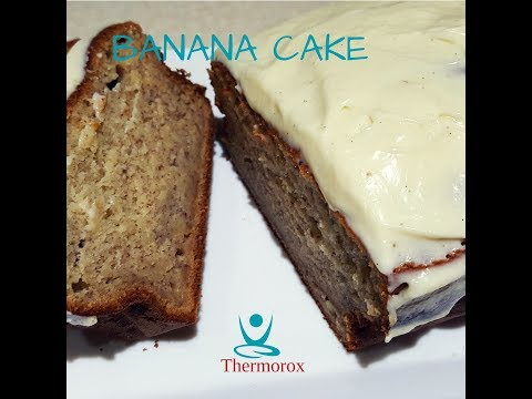 Banana Cake with Cream Cheese Frosting made with your Thermomix