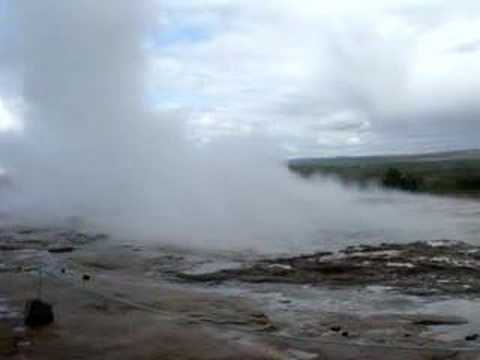 Geysir eruption, Iceland