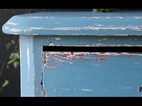 Step by step, Three-colored drawer! Miss Mustard Seed milkpaint