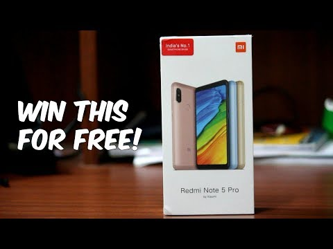 Here is a Redmi Note 5 Pro Black for you! [GiveAway]
