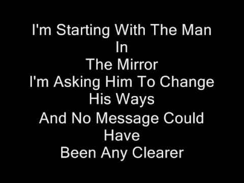 Michael Jackson-Man In The Mirror-Instrumental-With Lyrics