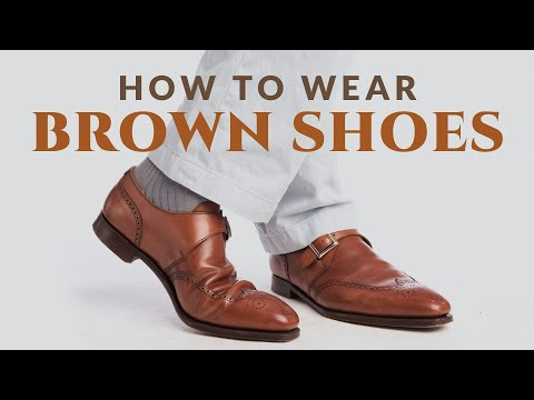 How to Wear Brown Shoes | Men's Leather Dress Shoes Oxford Derby