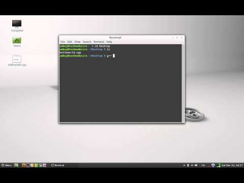 Compile and Run a C++ program on Linux Mint / Ubuntu