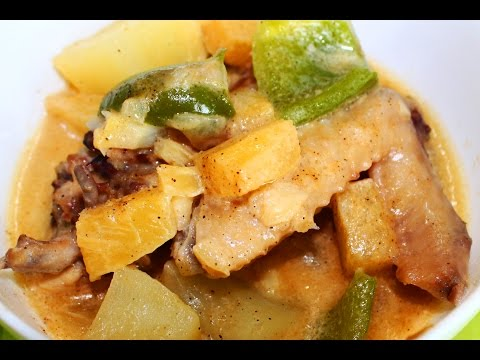 How to Cook Pininyahang Manok with Milk Recipe - English