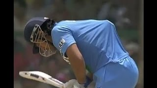 Dhoni haters must watch this.. ( playing with ice bags on his back when team needs him )