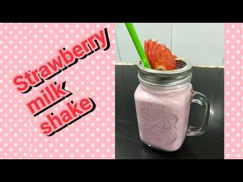 Strawberry Milk Shake | Strawberry Thik Shake