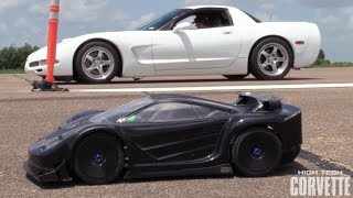 Twin Turbo Corvette vs RC Car