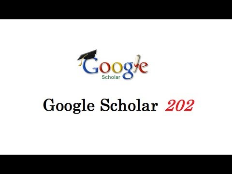 How to use Google Scholar 202