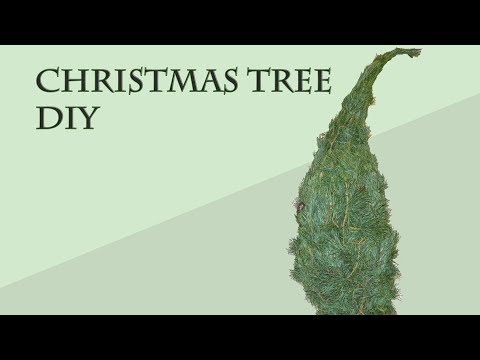 [DIY] How to create a Christmas tree from branches