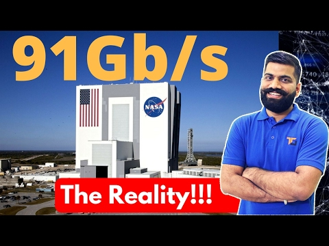 World's Fastest Internet at NASA 91Gb/s | The Reality Explained!!!