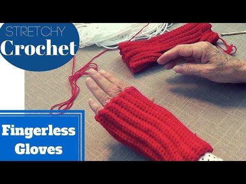 Single Crochet Fingerless Gloves (Stretchy) | Easy Mittens