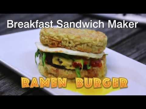 Make a Ramen Burger in the Breakfast Sandwich Maker
