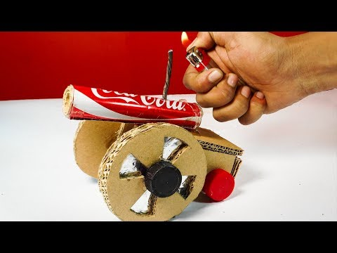 How to Make a Powerful Mini Cannon Using Coca cola Cans