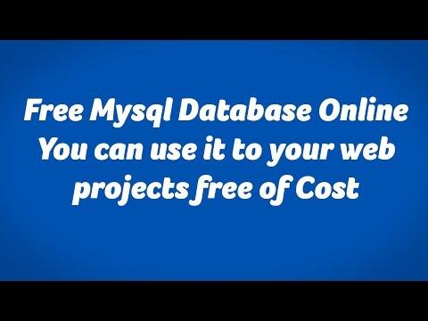 Free Mysql Database Online - Free Mysql Hosting