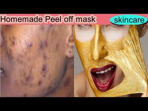 skin whitening and lightining peel off mask //homemade peel off  mask//skin whitening  peel off mask