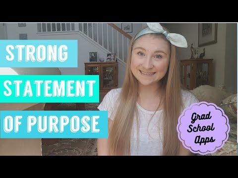 WHAT IS A STRONG STATEMENT OF PURPOSE | SOP | GRADUATE SCHOOL APPLICATION