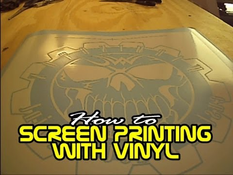 Screen Printing with Vinyl