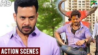 Pottu Ek Tantra - Best Action Scenes   New Hindi Dubbed Full Movie   Bharath Srinivasan,Iniya,