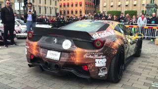 Ferrari 458 - Liberty Walk | Warm up and CRAZY REVS! Gumball3000 - Stockholm to Vegas