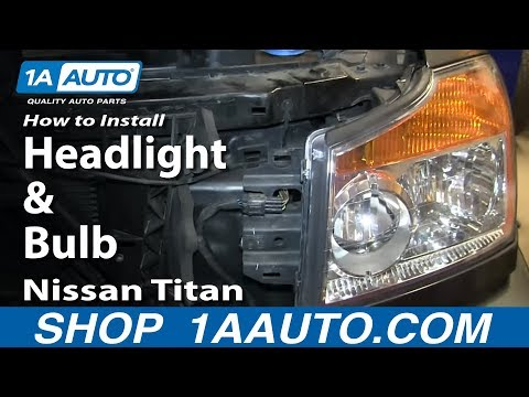How To Install Change Headlight and Bulb 2004-14 Nissan Titan and Armada