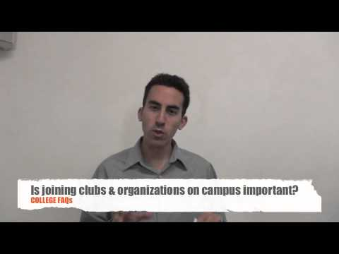 College Life FAQs - Is joining clubs & organizations on campus important?