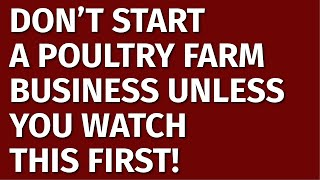 How to Start a Poultry Farming Business | Including Free Poultry Farming Business Plan Template