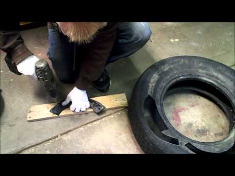 Make your own snowblower replacement PADDLES