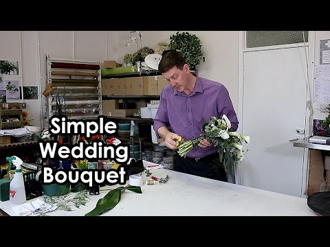 How To Make - Hand-tied Calla Lily Shower Style Wedding Bouquet