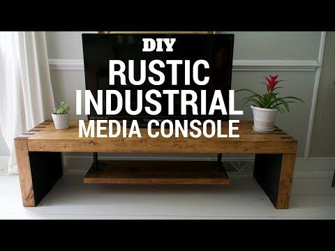 DIY Rustic & Industrial TV Console