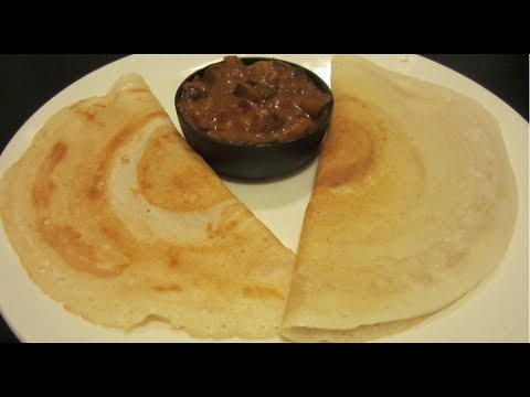 Plain Dosa or Dosai or Dosa Batter or DosaBatter (in tamil) - Step by Step Instructions