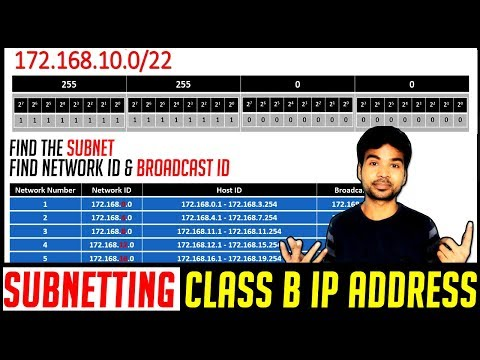 CLASS B SUBNETTING | How to find Subnet, Network Id, Broadcast id | Computer Networking Tips 2018