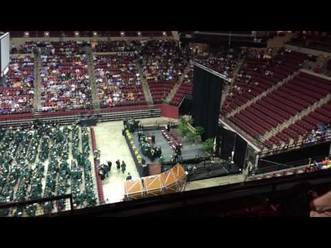 Boy collapses during High school graduation.
