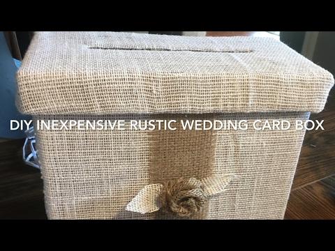 DIY $4 Rustic Country Wedding Card Box Tutorial 2017