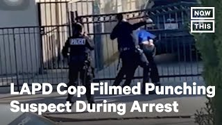 California Police Officer Filmed Repeatedly Punching Suspect During Arrest | NowThis