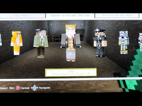 Minecraft Xbox 360- Secret skin pack [15 FREE skins] Summer of Arcade