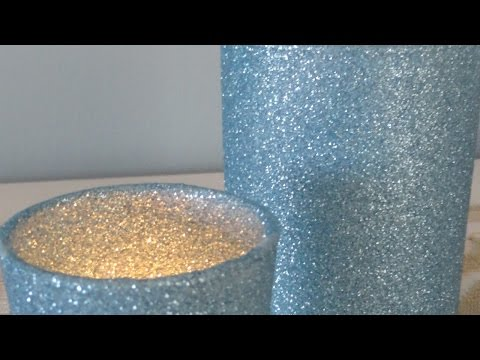 Make Sparkly Glitter Candle Holders - DIY Crafts - Guidecentral