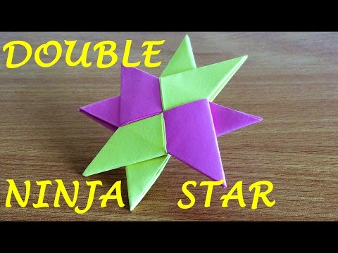 How To Make a Double Ninja Star Shuriken Origami (11