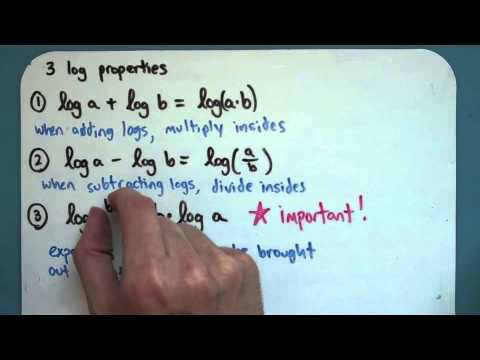 Three Properties of Logs (8-4-1)