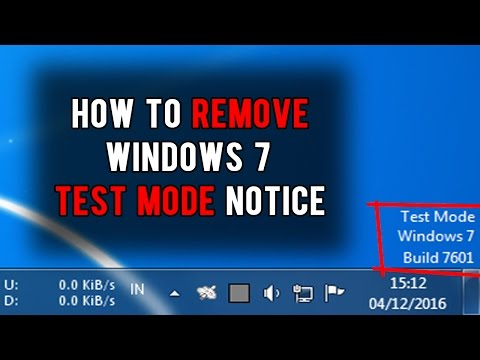 How to remove Windows 7 Test Mode Build 7601