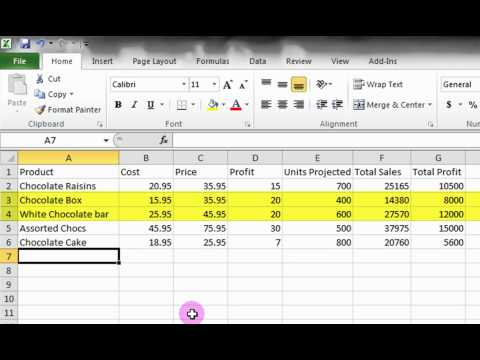 Microsoft Excel Tutorial: A Basic Introduction