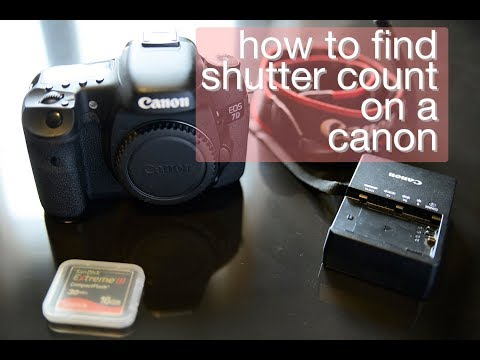 HOW to find shutter count on canon