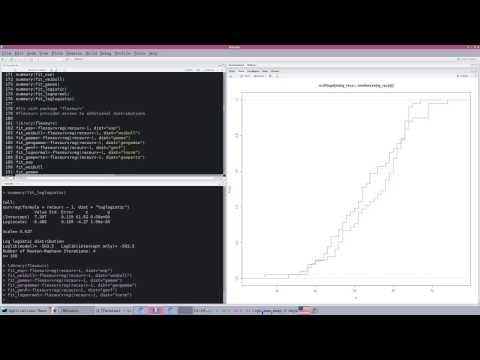 Survival Analysis in R, part 4, fitting distributions to data