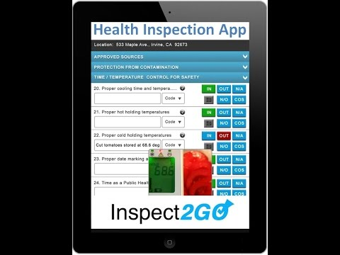 Mobile App for Health Inspection on iPad and Microsoft Tablets