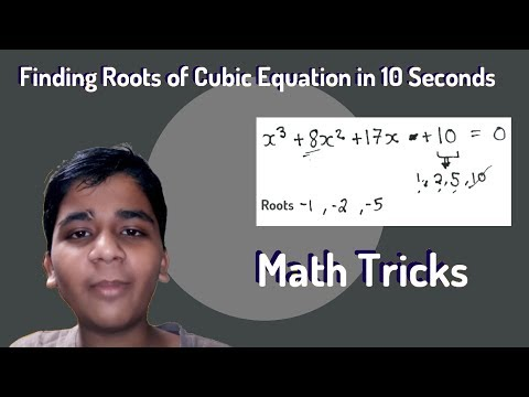 How to find Roots of Cubic Equation in just 10 seconds (Math Tricks)