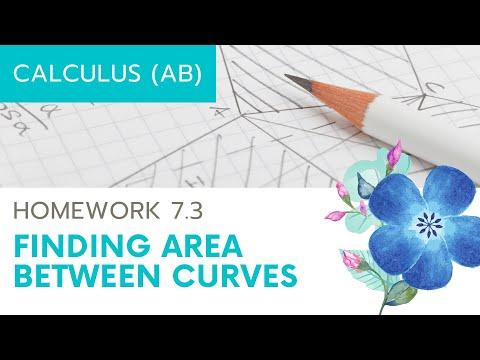 Calculus AB Homework 7.3 Area Between Curves
