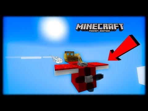 Minecraft PE | How to Make an Toy Airplane